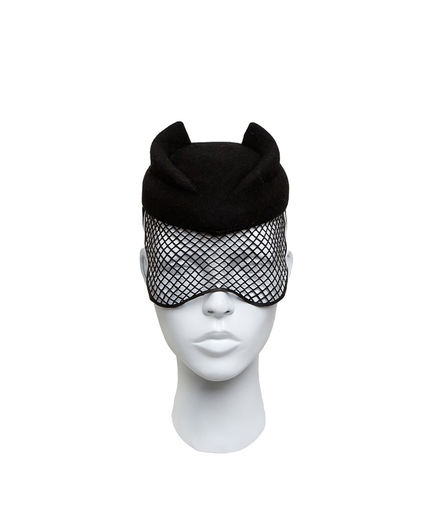 TEAR DROP 2 FIN  MOHAWK VEILED HAT