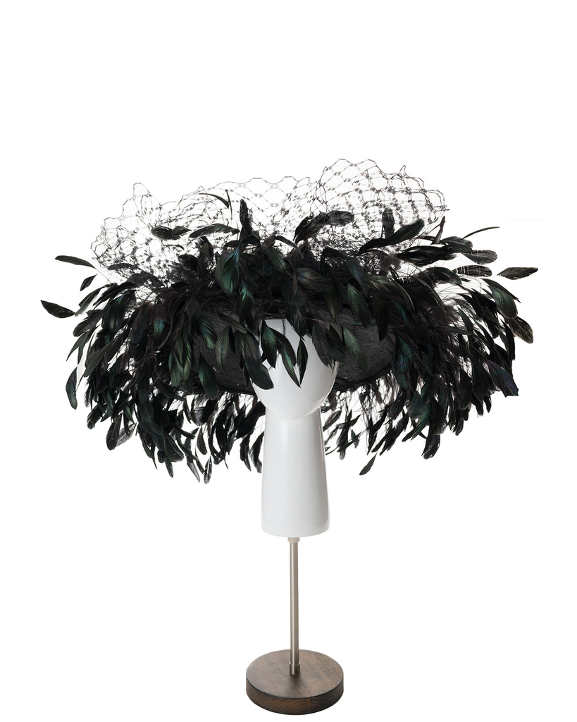 BARDOT FEATHERED HAT