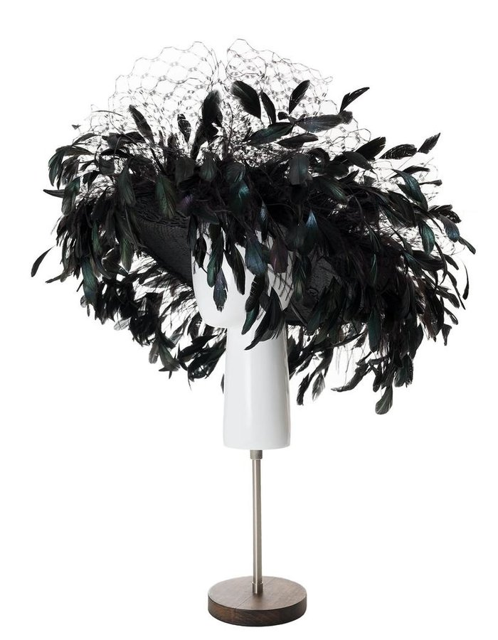TOLENTINO HATS BARDOT FEATHERED HAT
