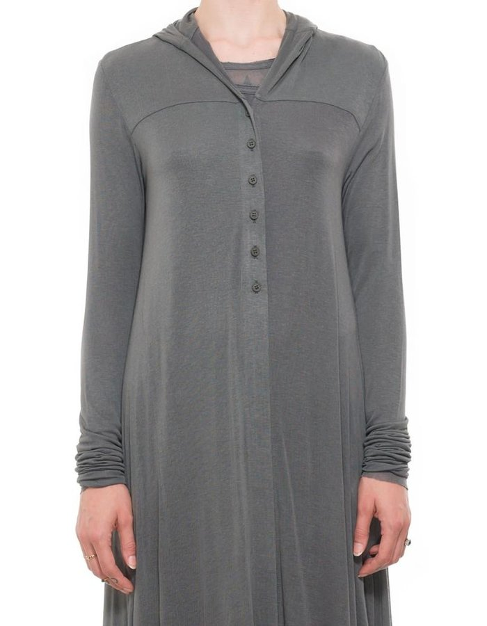 PAL OFFNER LONG HOODED ASYMMETRIC CARDIGAN