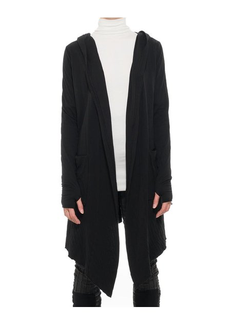 THOM KROM TK HOODED COTTON CARDIGAN
