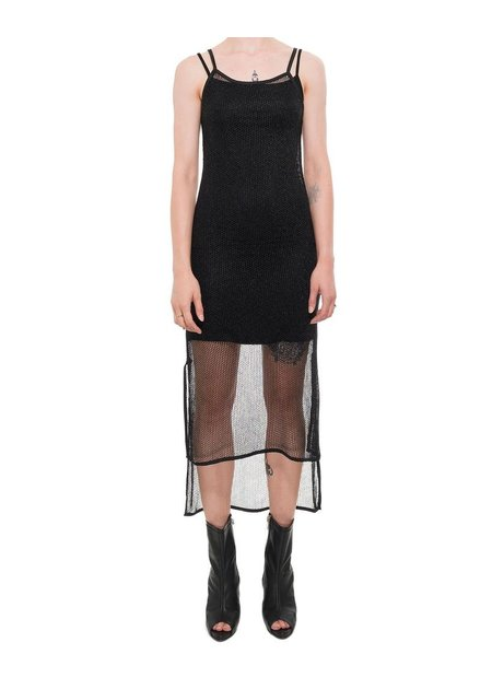 LA HAINE INSIDE US ASYMMETRIC NET DRESS W SLIP