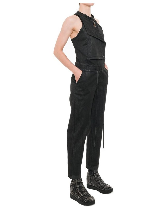 LA HAINE INSIDE US STRETCH LAMINATED JUMPSUIT