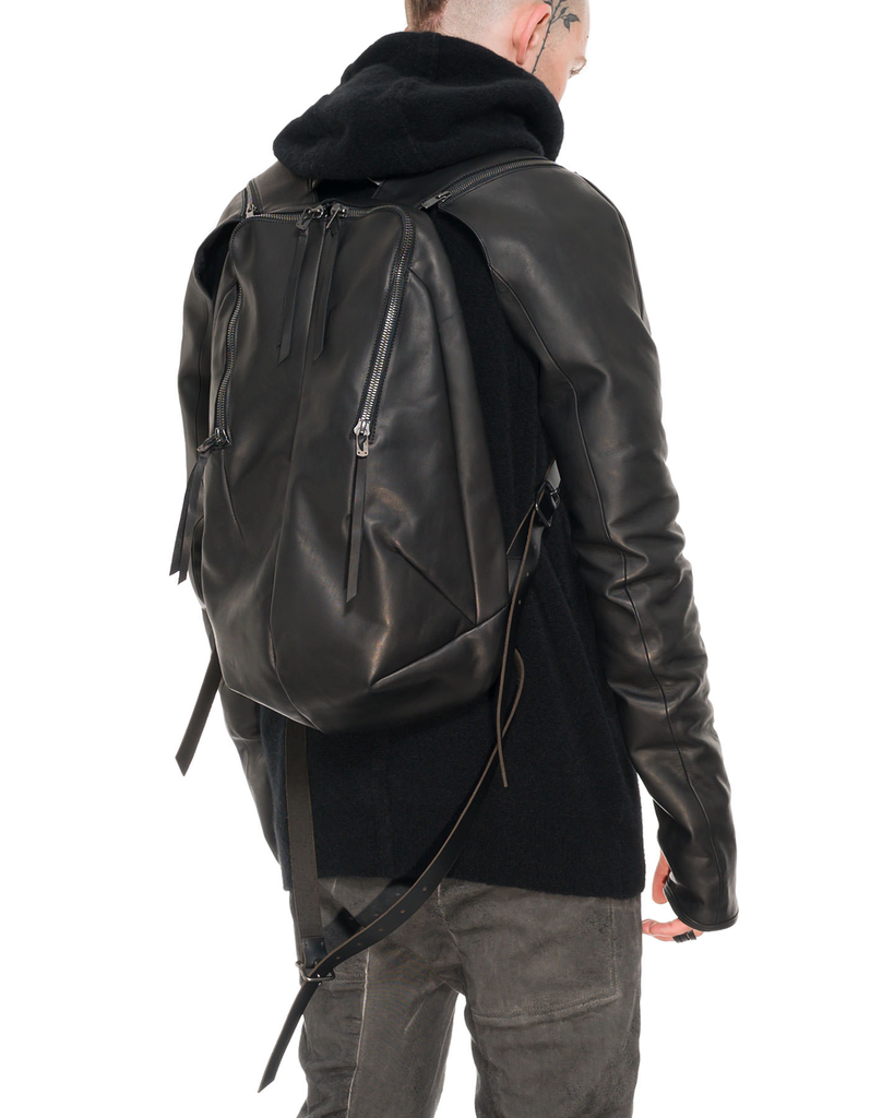 HORSE LEATHER BACKPACK WITH SLEEVES