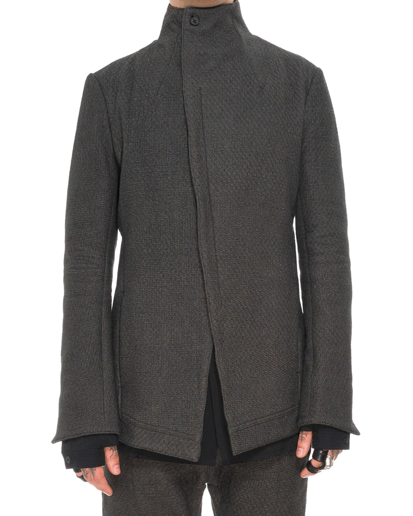 NEEDLE PUNCH HIGH-NECK JACKET