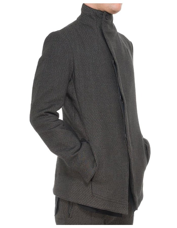 D. HYGEN NEEDLE PUNCH HIGH-NECK JACKET