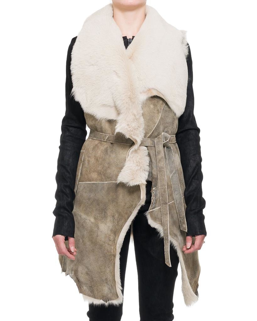 SHAWL COLLAR SHEEPSKIN GILET