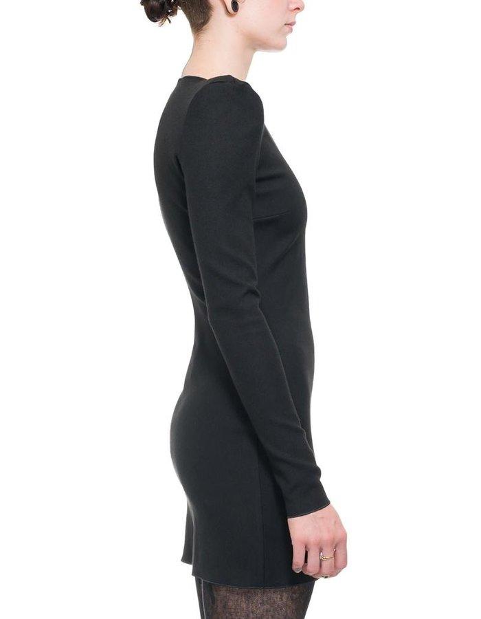 NOSTRA SANTISSIMA ZIP FRONT SHOULDER PAD DRESS