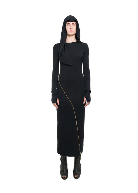 NOSTRA SANTISSIMA LONG SLEEVE HOODED DRESS