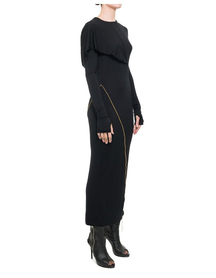 NOSTRA SANTISSIMA LONG SLEEVE HOODED DRESS
