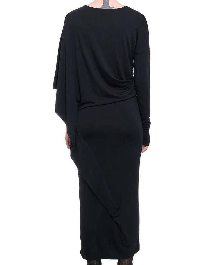 NOSTRA SANTISSIMA DRAPE ONE SLEEVE DRESS