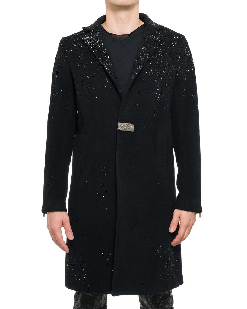SILVER FOIL CHESTERFIELD COAT