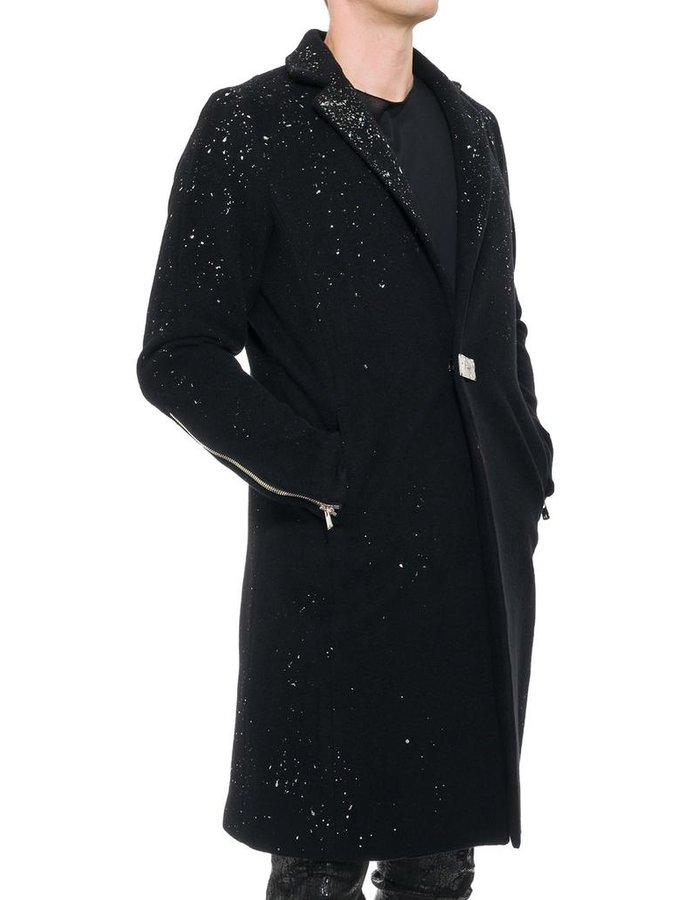 FAGASSENT SILVER FOIL CHESTERFIELD COAT
