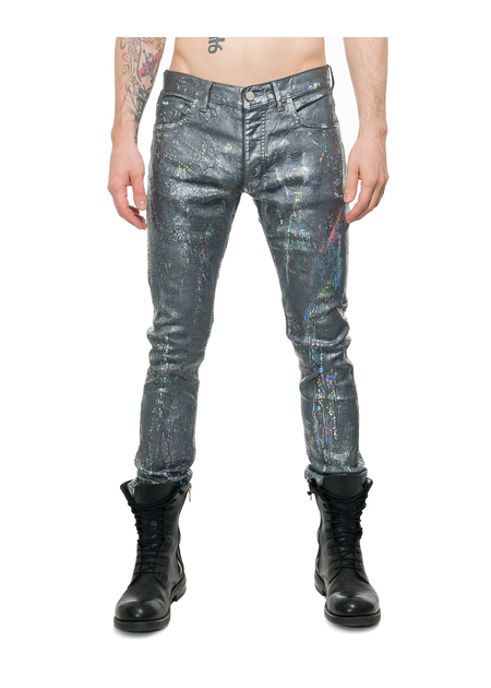 FAGASSENT RAINBOW SNAKE COATED DENIM