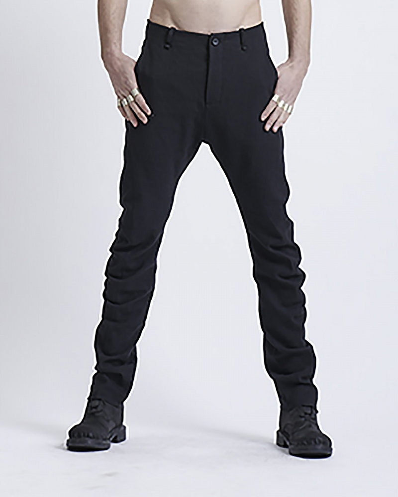 CLASSIC FIT TAILORED PANT WITH NOTCH BLK