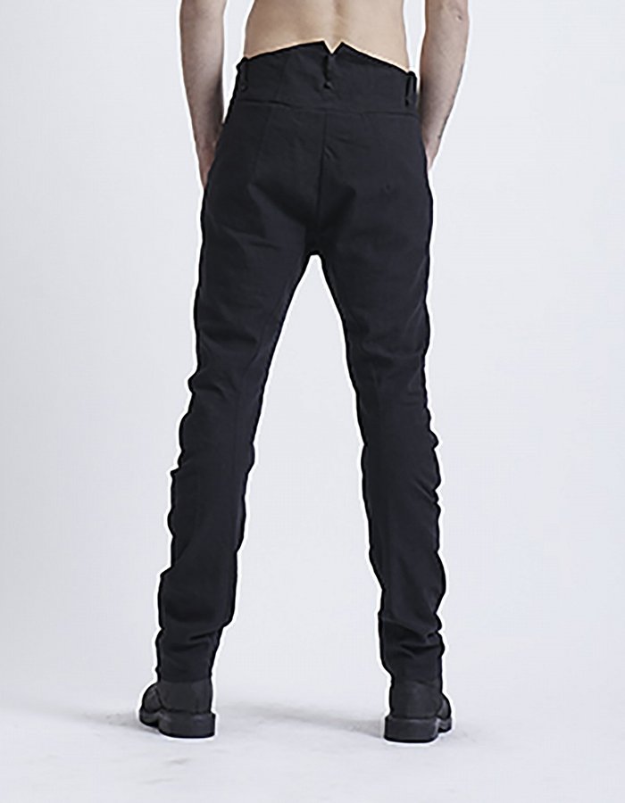 MASNADA CLASSIC FIT TAILORED PANT WITH NOTCH BLK