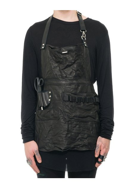 JULIA FOM SHORT LEATHER UTILITY APRON