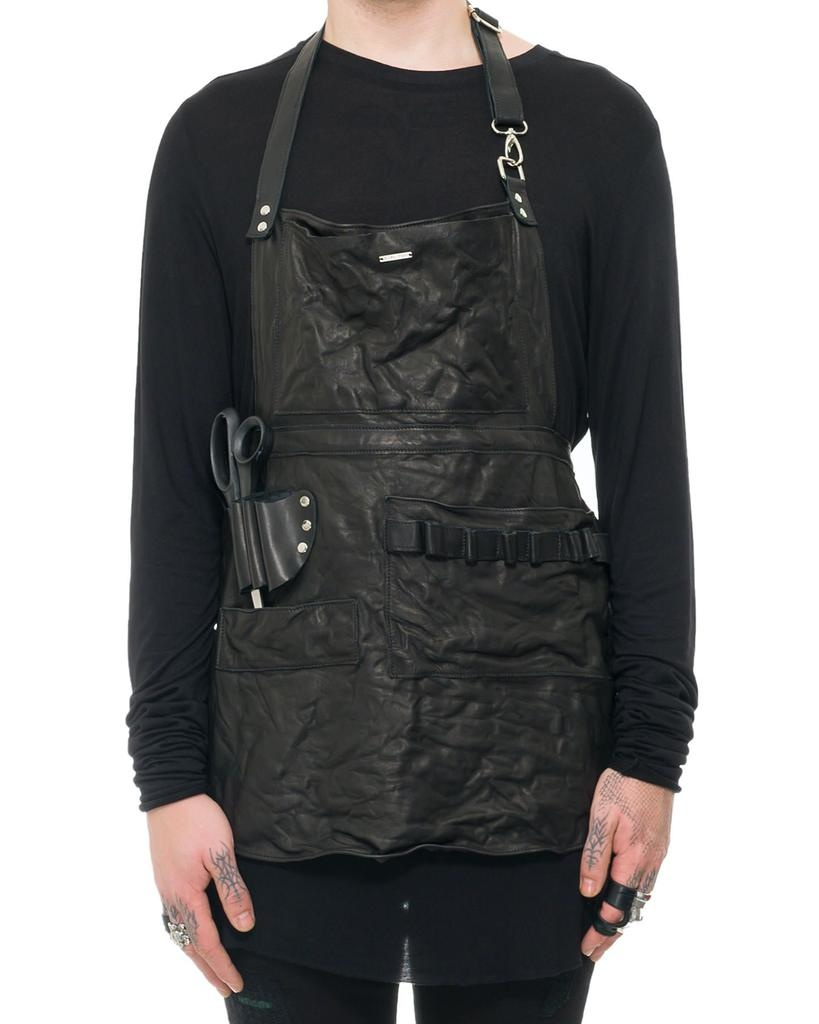 SHORT LEATHER UTILITY APRON
