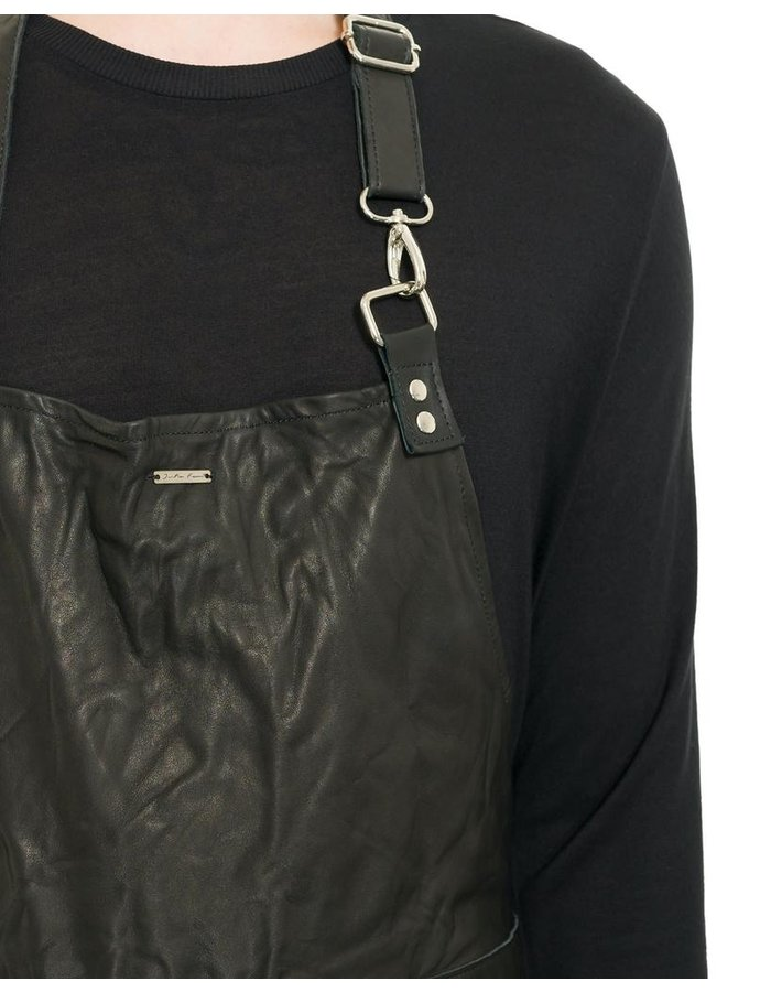 JULIA FOM LONG LEATHER APRON