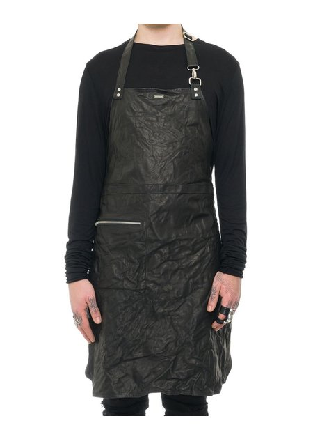 JULIA FOM MEDIUM LENGTH LEATHER APRON