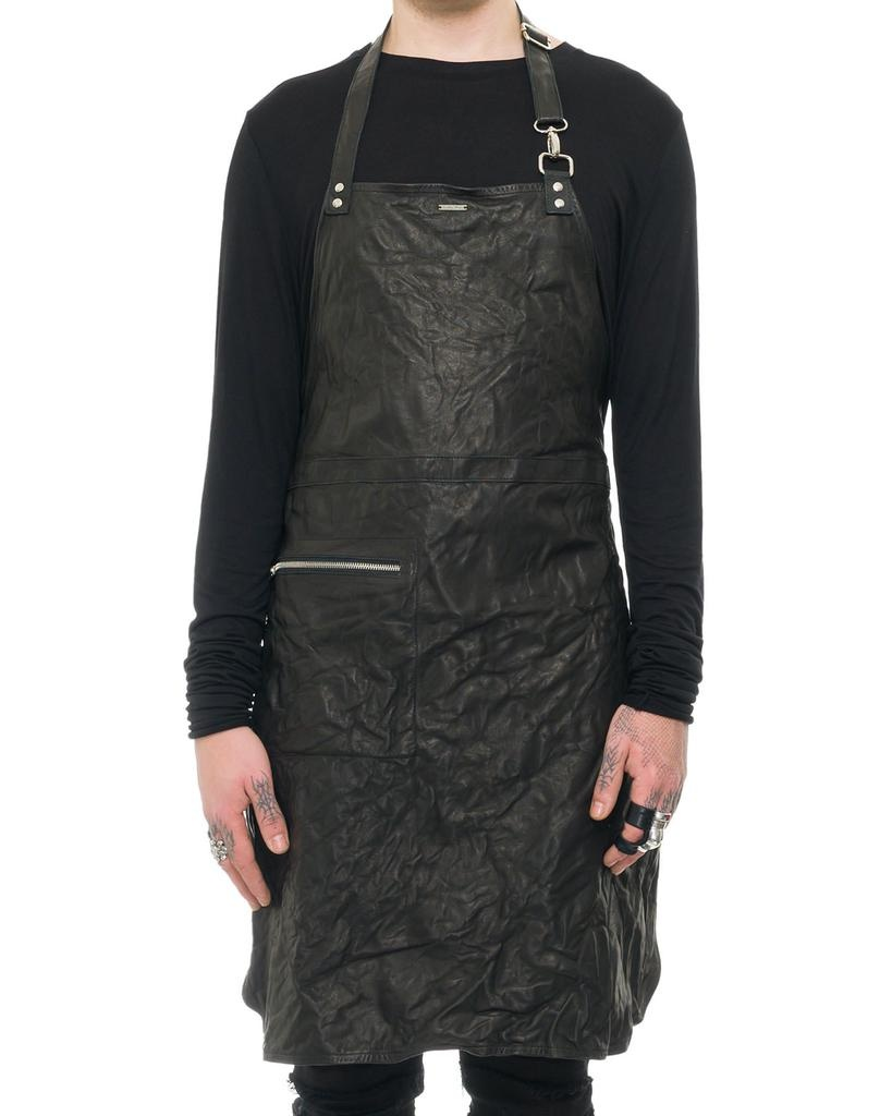 MEDIUM LENGTH LEATHER APRON
