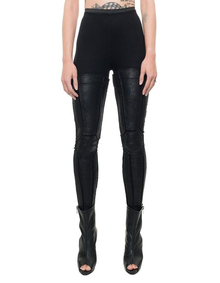 DAVID'S ROAD LEGGINGS WITH LEATHER EFFECT PANNELS