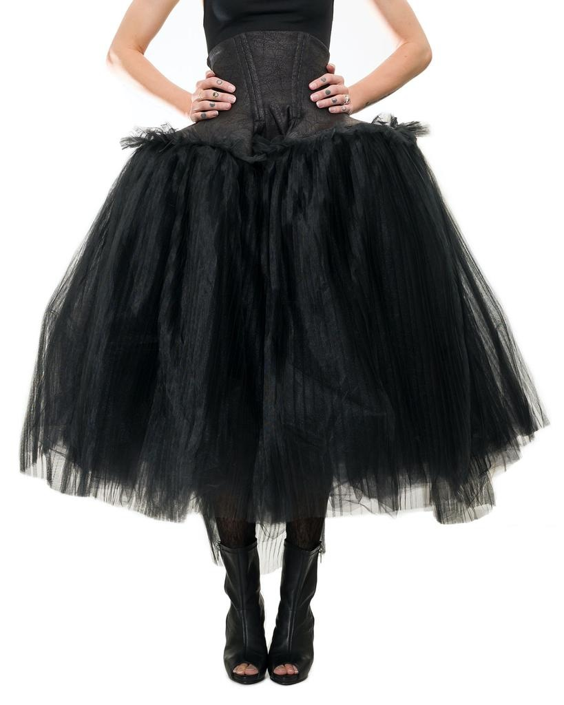 WIDE TULLE SKIRT WITH CORSET