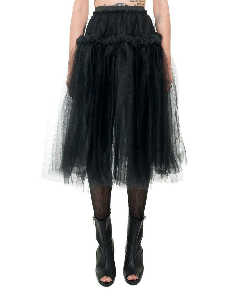 TULLE SKIRT WITH RUFFLE BAND