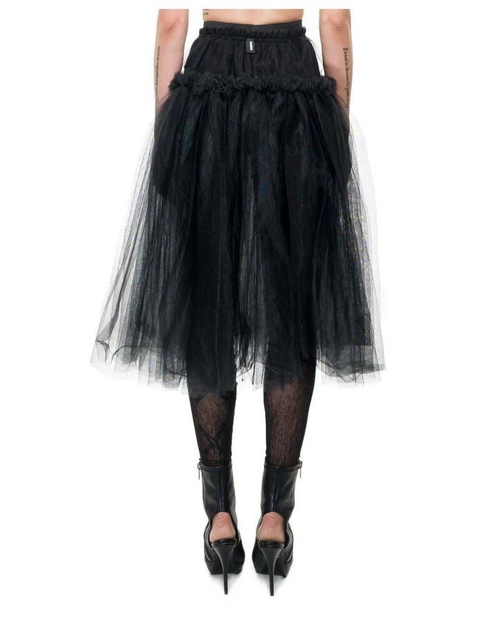 DAVID'S ROAD TULLE SKIRT WITH RUFFLE BAND