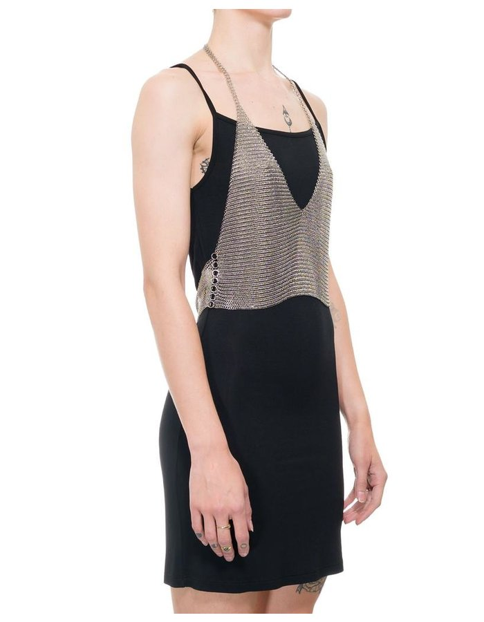 FANNIE SCHIAVONI METAL MESH HALF TOP
