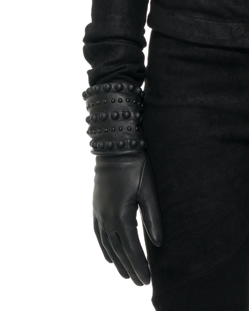 VIRGINIE SPIKE AND STUD GLOVE:CASHMERE LINED
