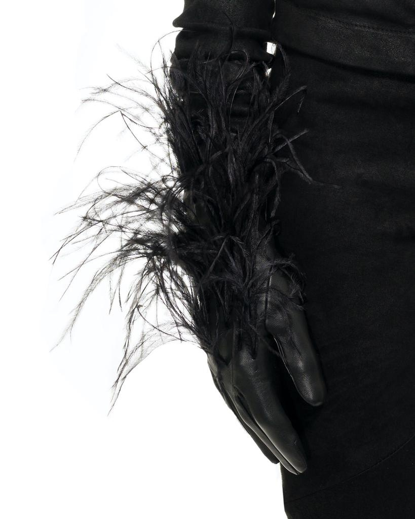 PLUMES GLOVE WITH SILK LINING