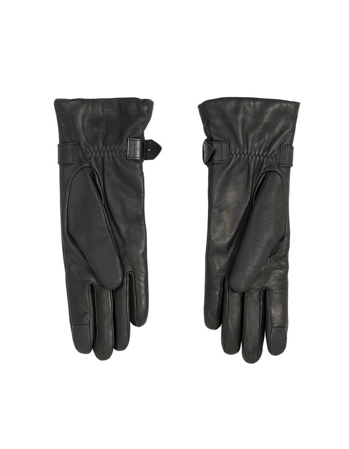 AGNELLE BARBARA GLOVE WITH ZIP AND BUCKLE:CASHMERE LINED