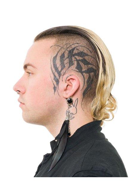 KD 2024 EARCLIP STONE FEATHER - LEFT EAR