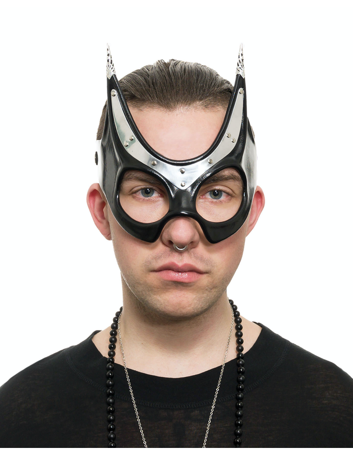 CECILIO LEATHER DESIGNS BASTET METAL & LEATHER EYEMASK