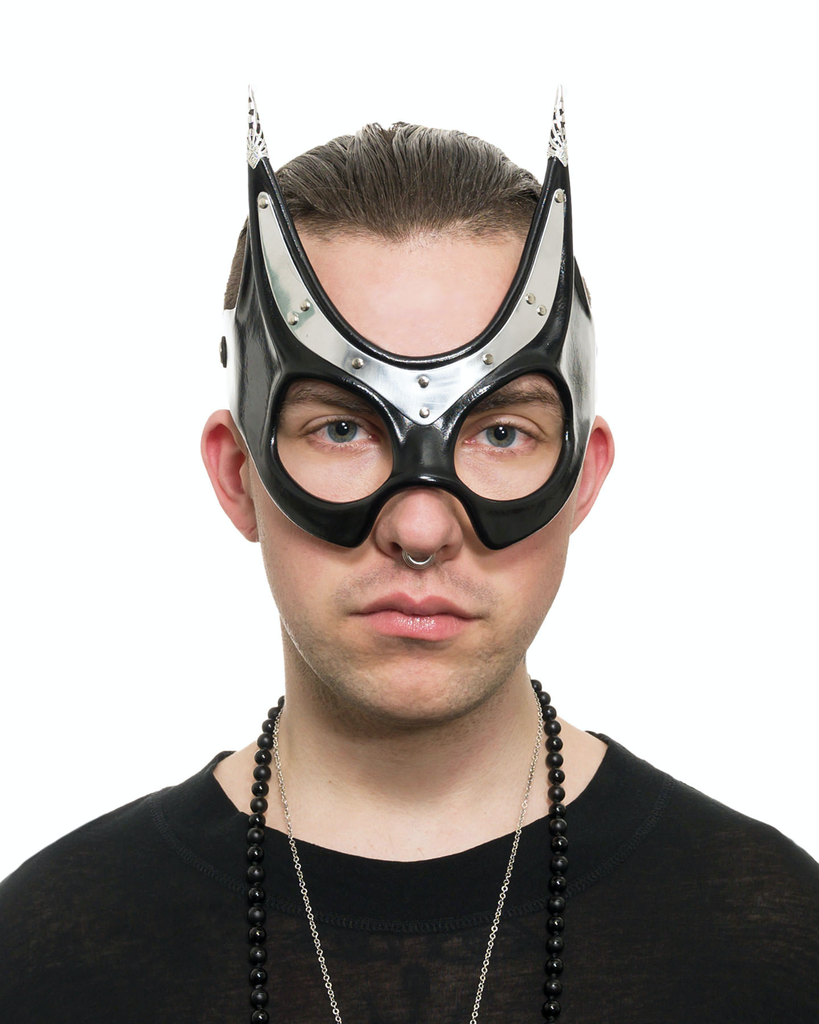 BASTET METAL & LEATHER EYEMASK