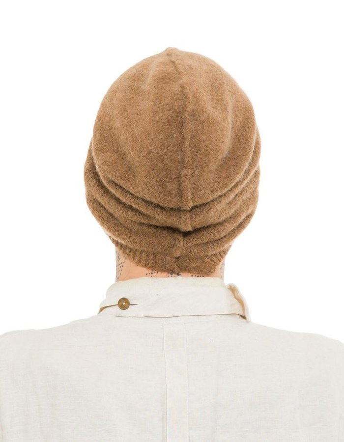ISABEL BENENATO KNIT YAK BEANIE WITH SEAM