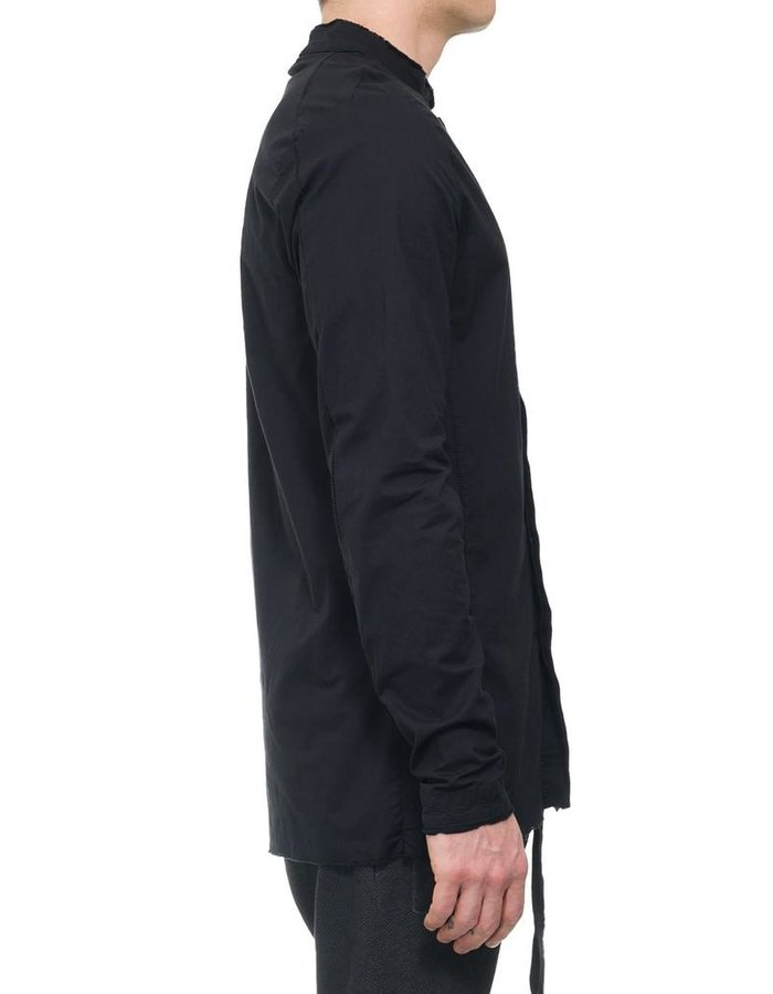 THOM KROM HIGH COLLAR STRETCH BUTTON UP