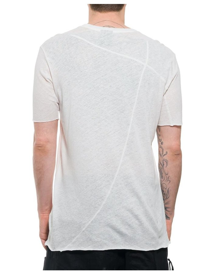 THOM KROM COTTON & LINEN TEE WITH STITCH