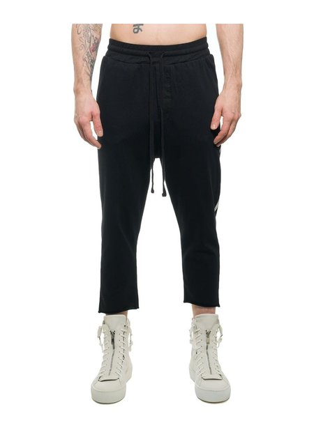 THOM KROM LOW CROTCH CROPPED COTTON TROUSER W/ STRIPE