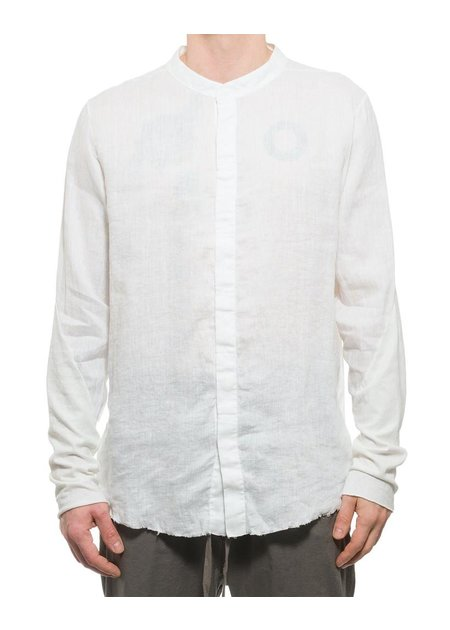 THOM KROM LINEN MANDARIN COLLAR BUTTON UP