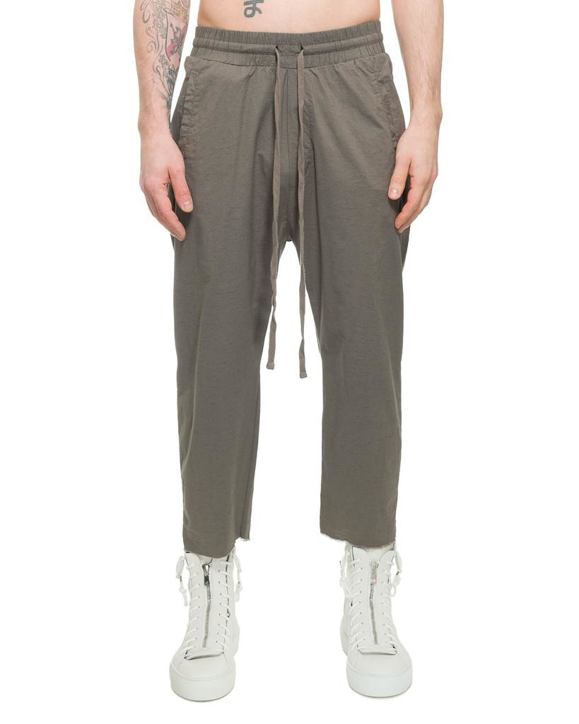 STRETCH COTTON & LINEN TROUSER