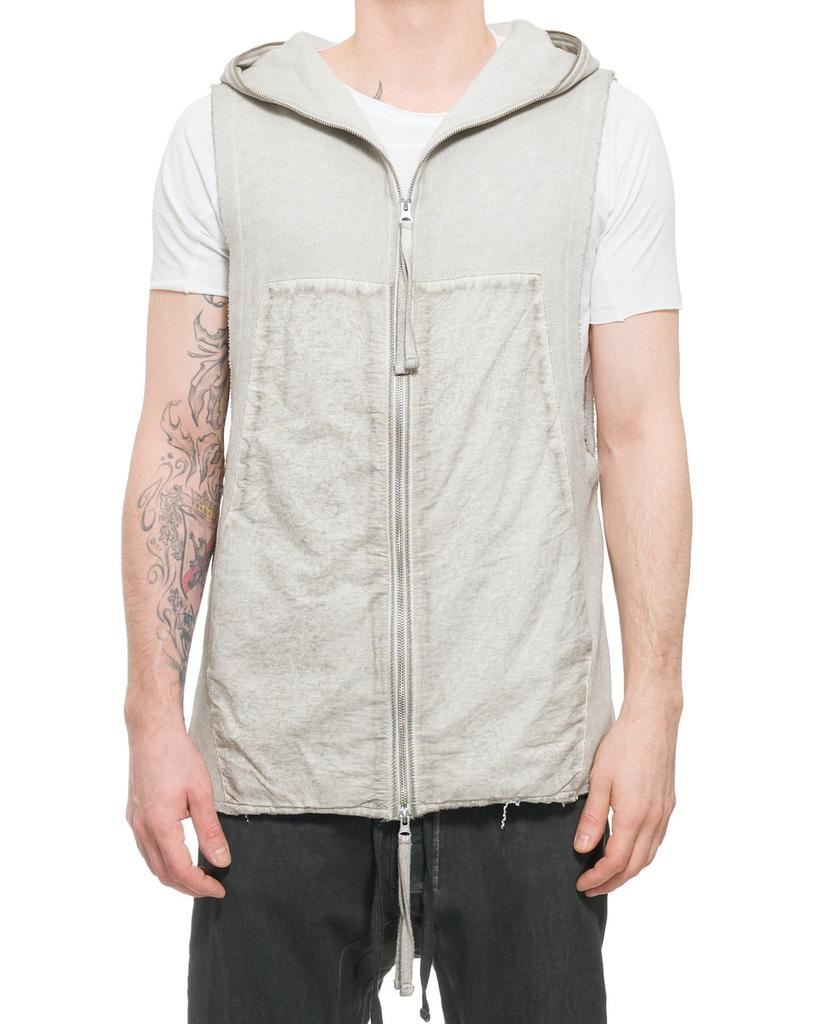 SLEEVELESS FULL ZIP HOODY