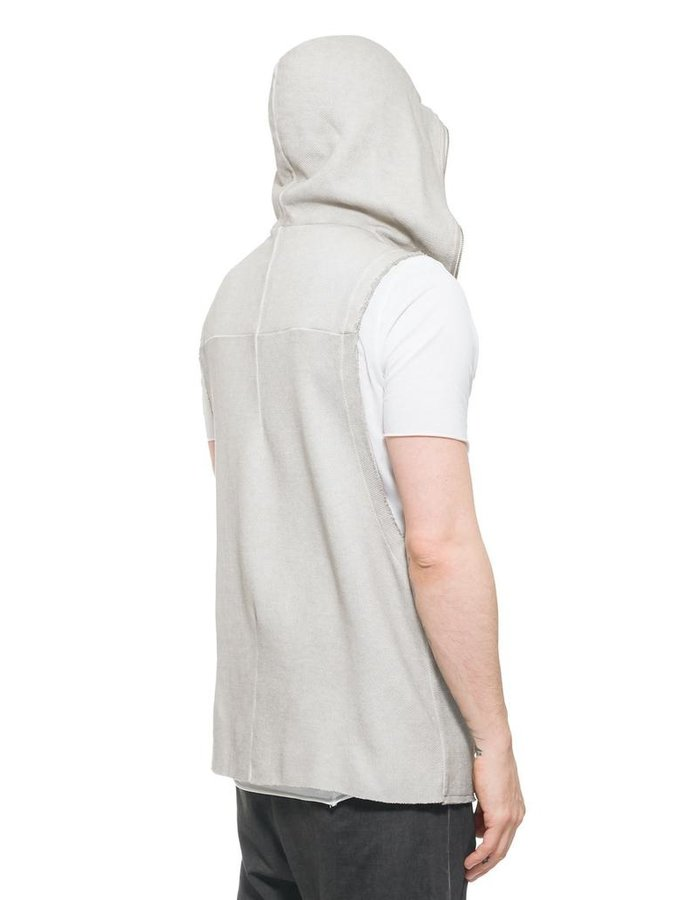 THOM KROM SLEEVELESS FULL ZIP HOODY
