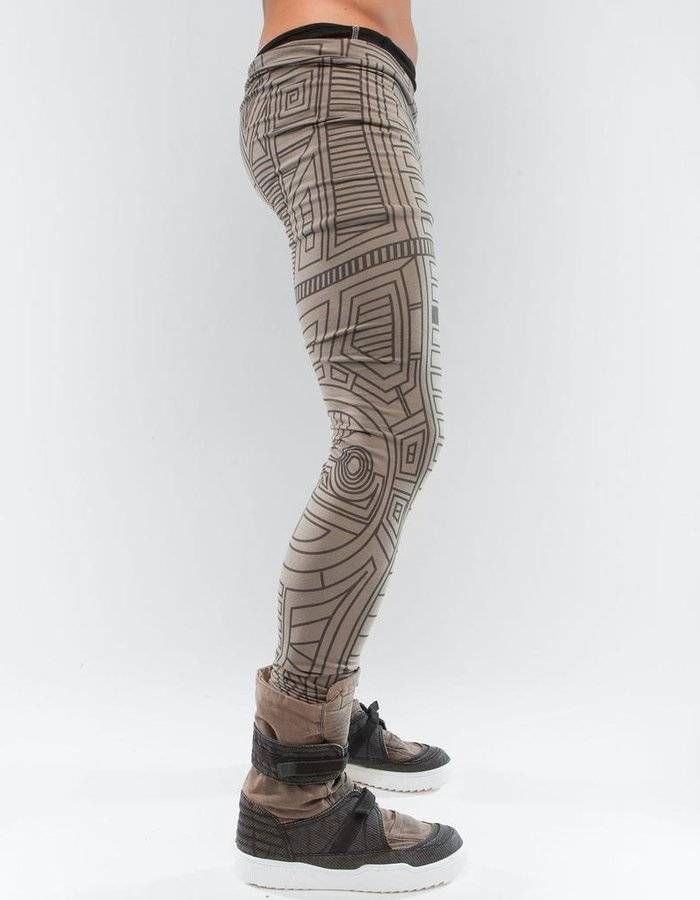 DEMOBAZA LEGGINGS STRUCTURE BEIGE M
