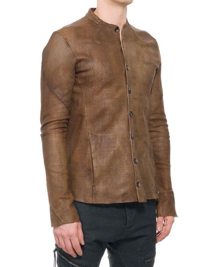 MASNADA FAKIR LEATHER SHIRT