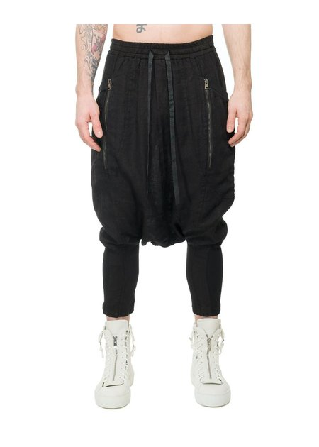 LA HAINE INSIDE US FLAP POCKET LINEN HAREM PANTS