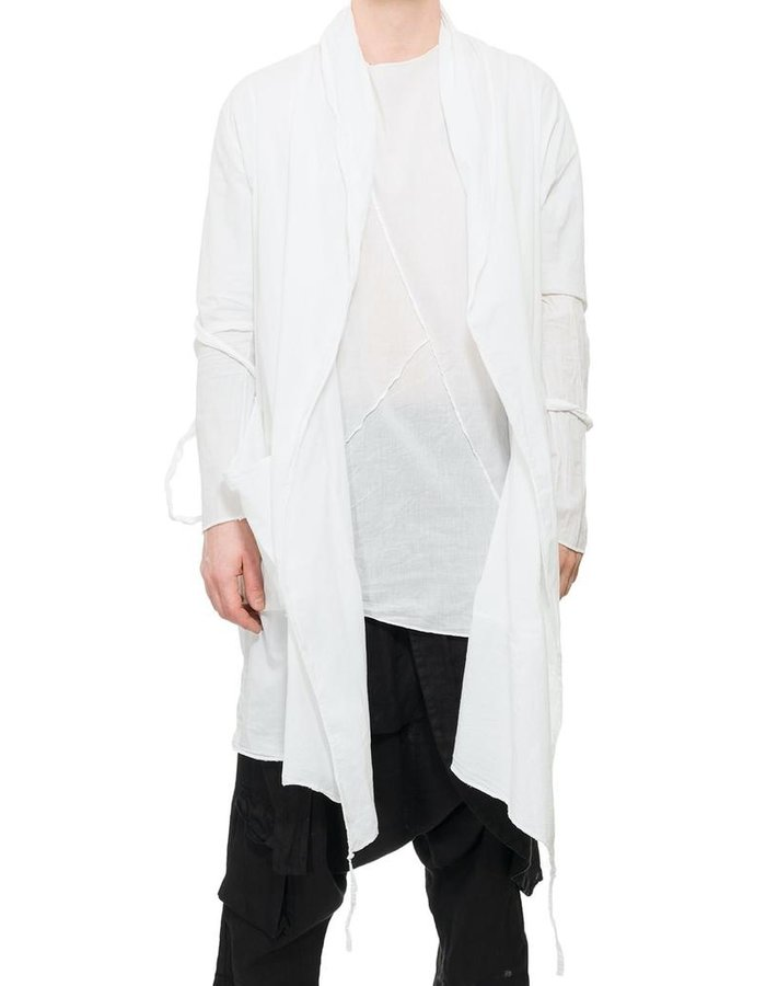 LA HAINE INSIDE US STRAPPED SLEEVE COTTON CARDIGAN