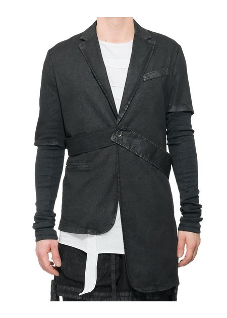 LA HAINE INSIDE US ASYMMETRIC LAMINATED CONVERTIBLE JACKET