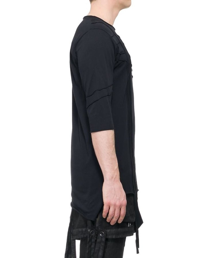 LA HAINE INSIDE US 3/4 SLEEVE PANELED T-SHIRT